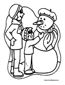 Snowman Coloring Page 15