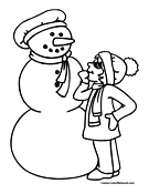 Snowman Coloring Page 17