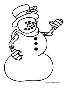 Snowman Coloring Page 19