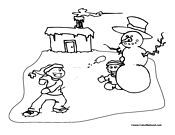 Snowman Coloring Page 20