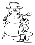 Snowman Coloring Page 21