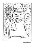 Snowman Coloring Page 23