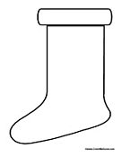 Blank Christmas Stocking