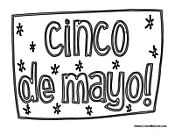 Cinco de Mayo Coloring
