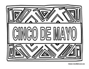 Cinco De Mayo Flag Coloring Pages