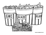 Recycle Cans Glass Plastic