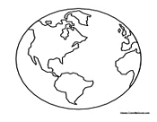 Earth planet model to color pics about space for Earth coloring page pdf