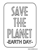 Save the Planet - Earth Day