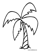 Tree Coloring Page 1