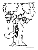 Tree Coloring Page 2