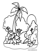 Trees Coloring Page 13
