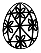 Egg Coloring Page Easter