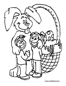 Giant Easter Bunny Coloring