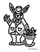 Large Easter Bunny with Basket