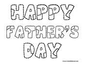 Happy Father's Day Patchwork