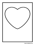Heart Card Coloring page