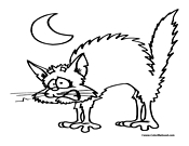 Halloween Cat Coloring Page 1