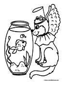 Halloween Cat Coloring Page 6