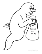 Cartoon Ghost Coloring Page
