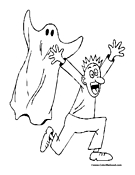 Ghost Coloring Page 7