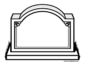 blank tombstone coloring page 2