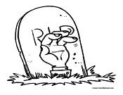 graveyard coloring page 2