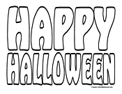 happy halloween coloring page 01 Halloween Coloring Pages
