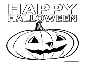 Happy Halloween Coloring Page 3