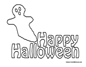 Happy Halloween Coloring 1