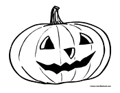 Pumpkin Coloring Page 1