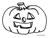 Pumpkin Coloring Page 3