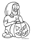 pumpkin coloring page 08 Halloween Coloring Pages