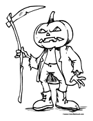 Pumpkin Coloring Page 9