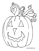 Pumpkin Coloring Page 13