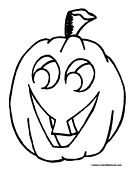 Pumpkin Coloring Page 17