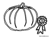 Pumpkin with Award