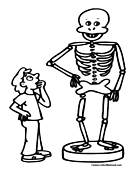 Skeleton Coloring Page 5