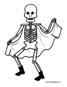 Skeleton Coloring Page 7