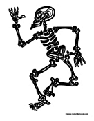Dancing Halloween Skeleton