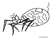 Spider Coloring Page 1
