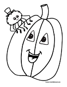 Spider Coloring Page 7
