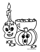 Trick or Treat Coloring Page 2