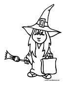 Trick or Treat Coloring Page 5