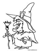 Witch Coloring Page 7