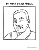 MLK Day Coloring Page