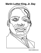 MLK JR Day Coloring Worksheet