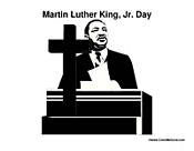 Martin Luther King with Cross