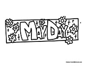 may day holiday coloring page