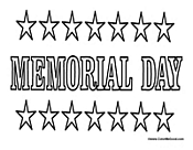 memorial day coloring activity memorial day coloring page
