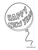 Happy New Year Balloon